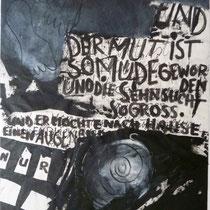 1992, DER CORNET, 60 x 80, Enkaustik, Mischtechnik