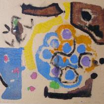 1972, o.T., 38 x 32, Wachsfarbendruck