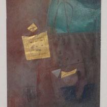 1988, DAS GLUECKLICHE HAUS, 23 x 30, Enkaustik, Privatbesitz