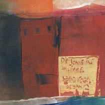 1983, ABENDVOGEL, 21 x 29, Enkaustik mit Blattgold, Privatbesitz Hamburg