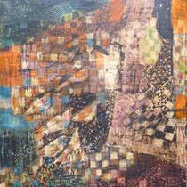 1960, StARKES GESCHEHEN, 50 x 39, Tempera - Graffito