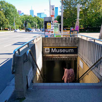 Museum, subway station in Toronto, Sept. 14, 2019