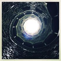 Quinta da Regaleira - Grand puits vu du bas © Sandrine Tellier