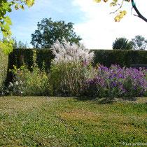Le jardin d'automne depuis la table de buis