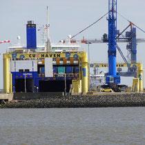 Anleger der RoRo England Fähre in Cuxhaven