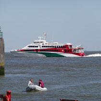Der Halunder Jet vor Cuxhaven