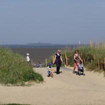 Der Nordseestrand in Cuxhaven