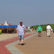 Die Strandpromenade von Döse