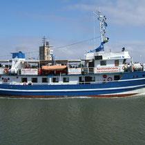 Das Schiff Jan Cux der Reederei NARG aus Cuxhaven