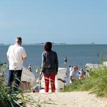 Der Strand in Sahlenburg mit Strandkörben