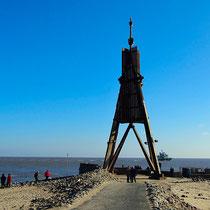 Die Kugelbake, das Wahrzeichen der Stadt Cuxhaven