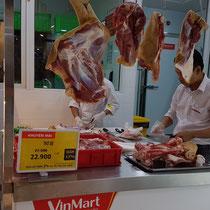 Offenes Fleisch im Supermarkt