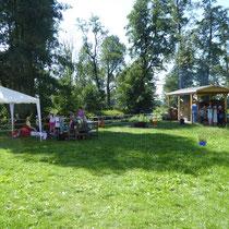 Schmutterwiese mit Lehmbackofen am Umweltzentrum