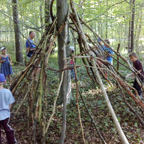 Waldtipi bauen