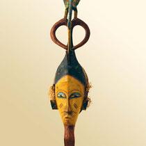 Masque d'esprit des ancêtres Gouro-Yaouré