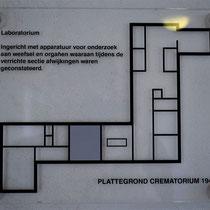 53) Plattegrond crematorium - Laboratorium