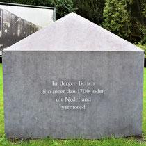Teken voor de Nederlanders die vermoord zijn in Bergen-Belsen