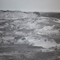Oude foto van de Waalsdorpervlakte waar de ter dood veroordeelde gevangenen gefusillieerd werden