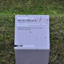 Informatiebord over gevangenenkantine