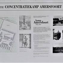 Informatiebord met informatie over Kamp Amersfoort
