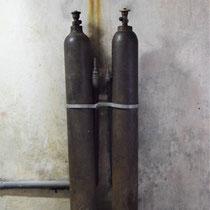 Flessen bij gaskamer Majdanek