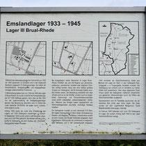 01. Informatiebord Lager III Brual-Rhede - staat bij de locatie van het voormalige kampterrein