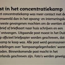 36) Informatiebord 'Post in het concentratiekamp'