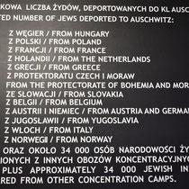 Bord met feiten Auschwitz