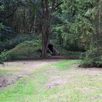 SS schuilbunker - rechts van de ingang buiten het kamp