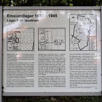 01. Informatiebord Lager V Neusustrum - staat bij de locatie van het voormalige kampterrein