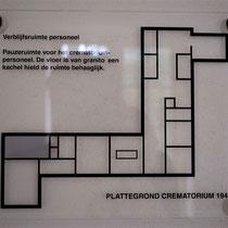 50) Plattegrond crematorium - Verblijfsruimte personeel