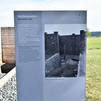 Informatiebord over executieplaats