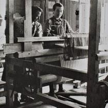 Foto van werkzaamheden in barak