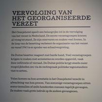 Informatiebord over vervolging van het georganiseerde verzet