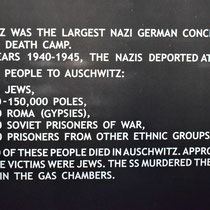 Bord met feiten Auschwitz 2
