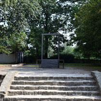 Galg Auschwitz - waar Rudolf Hoss (kamp commandant) is opgehangen