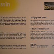 21. Informatiebord over Memorial, Museum en Documentatiecentrum Dossin Kazerne
