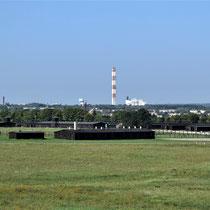 Weg naar ingang kamp Majdanek