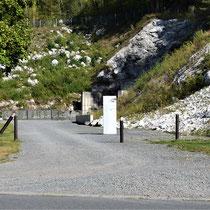 Tunnel ingang B - hier is een nieuwe tunnel gegraven om toegang te krijgen in tunnel A
