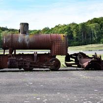 Locomotief die de wagons vervoerde