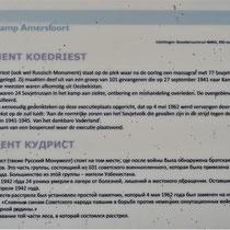 Informatiebord over Russisch monument