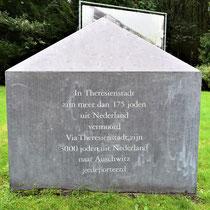 Teken voor de Nederlanders die vermoord zijn in Theresienstadt