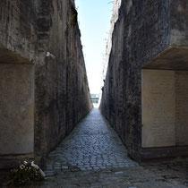 Weg van Memorial Monument Belzec naar begin