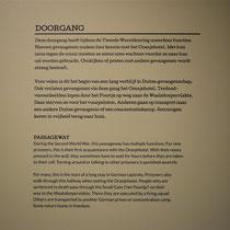 Informatiebord over doorgang