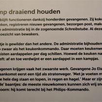 15) Informatiebord 'Het kamp draaiende houden'