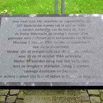 Nederlands herdenksingsbeeld - steen naast beeld
