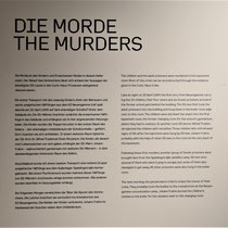Informatiebord over de moorden in Bullerhuser Damm