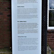 Informatiebord over werkkamp Carl-Walther