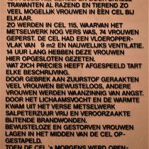 61) Informatiebord 'Het bunkerdrama' in cel 115