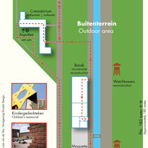 24) Plattegrond Nationaal Monument Kamp Vught - Buitenterrein